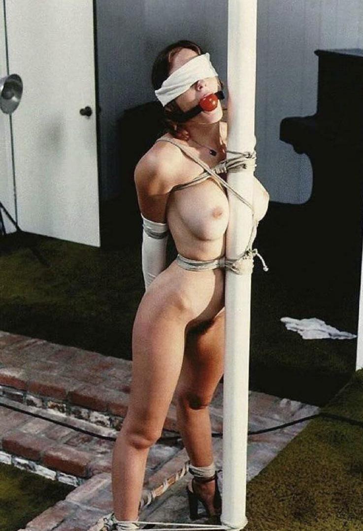 Bondage Girl Tied To Pole
