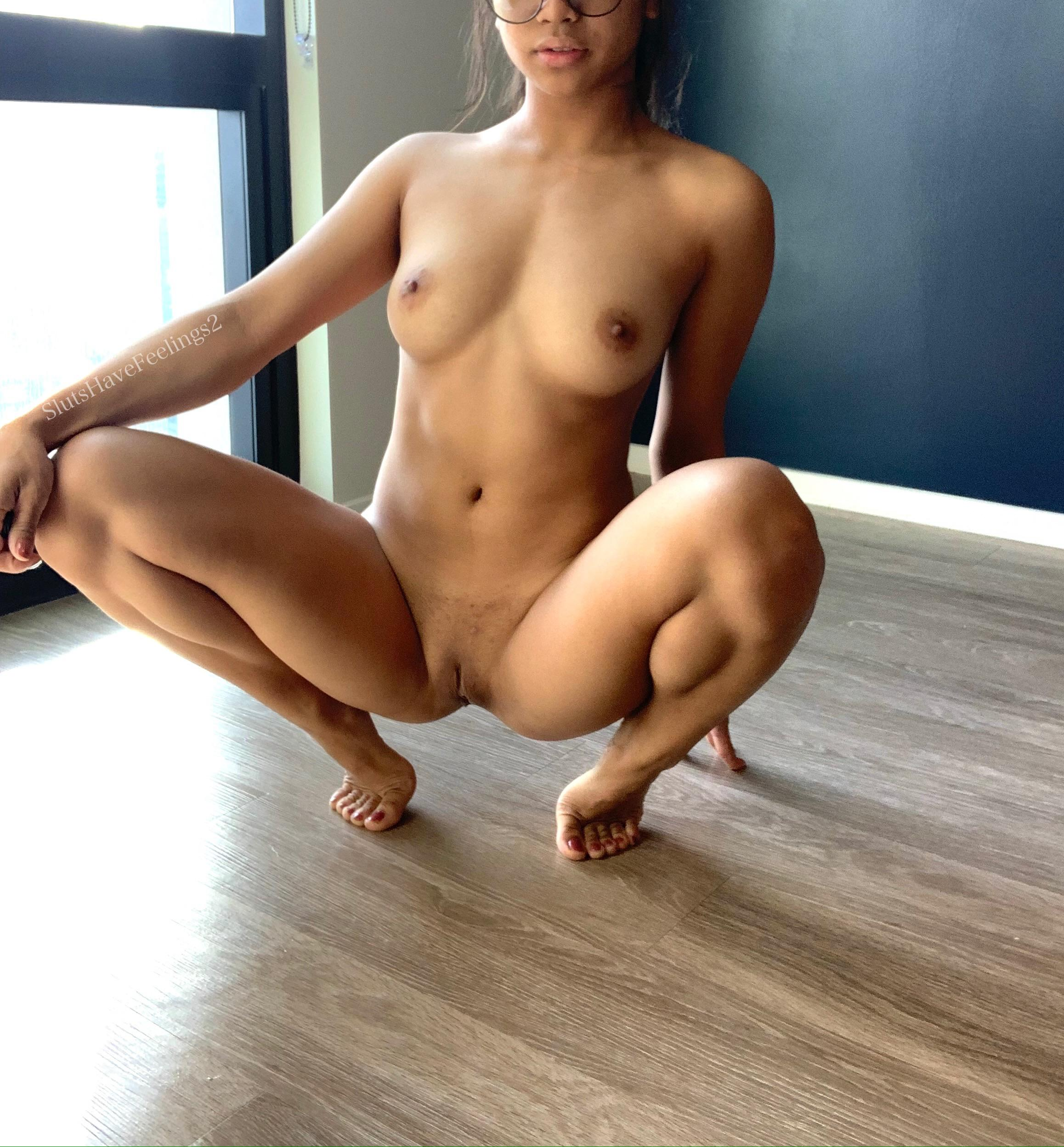 Naked Girls Squatting
