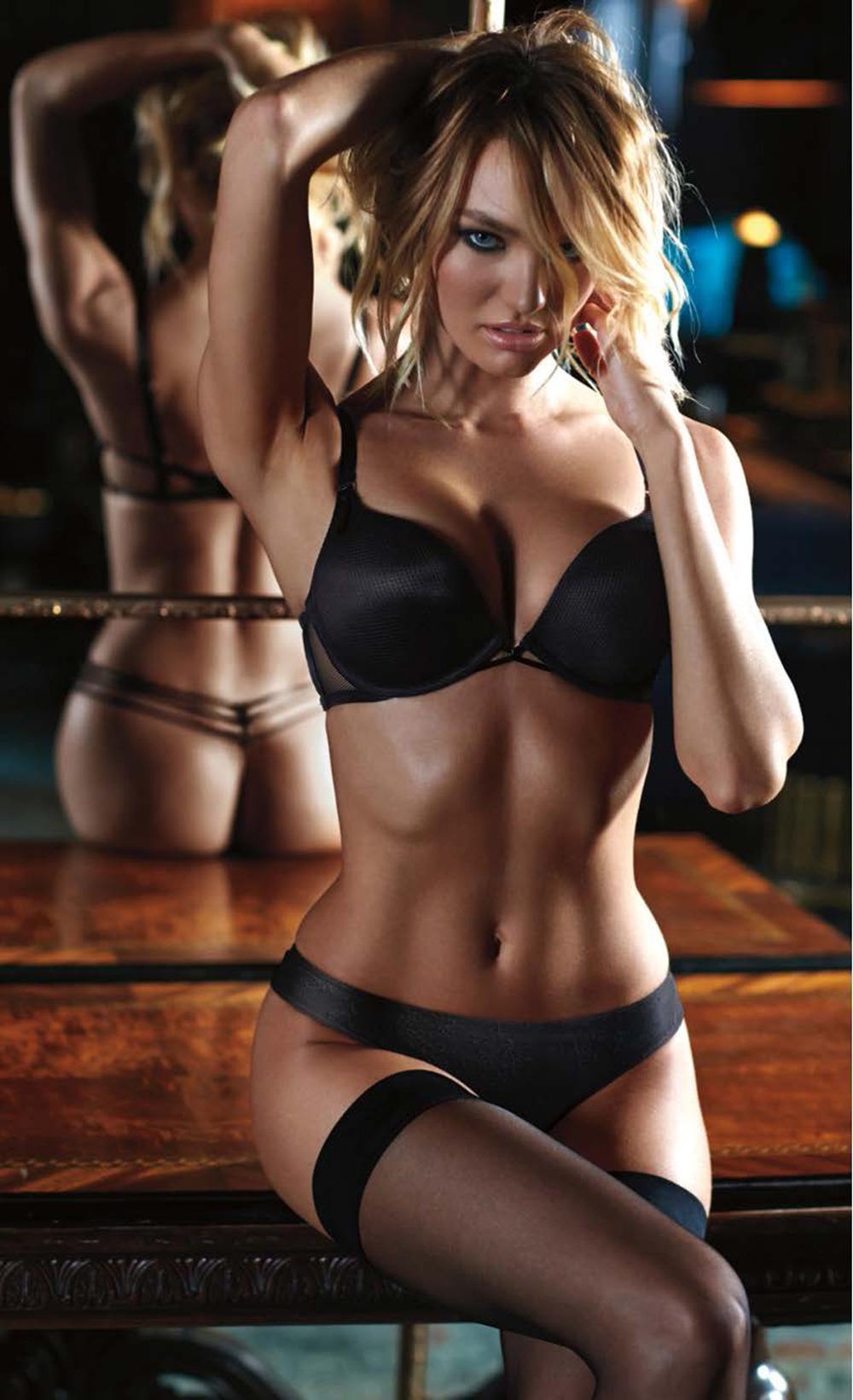 Beautiful girl brunette sexy fitness lingerie stock photo