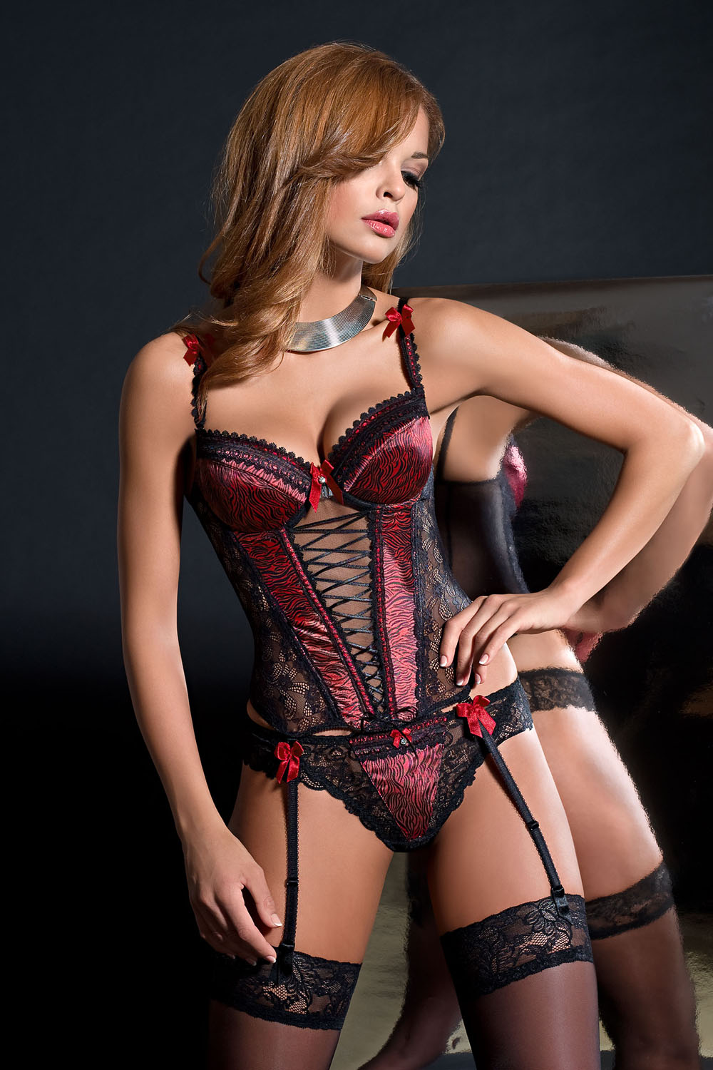 Sexy stockings negligee tights wave shape sexy lingerie sexy bodysuit red black