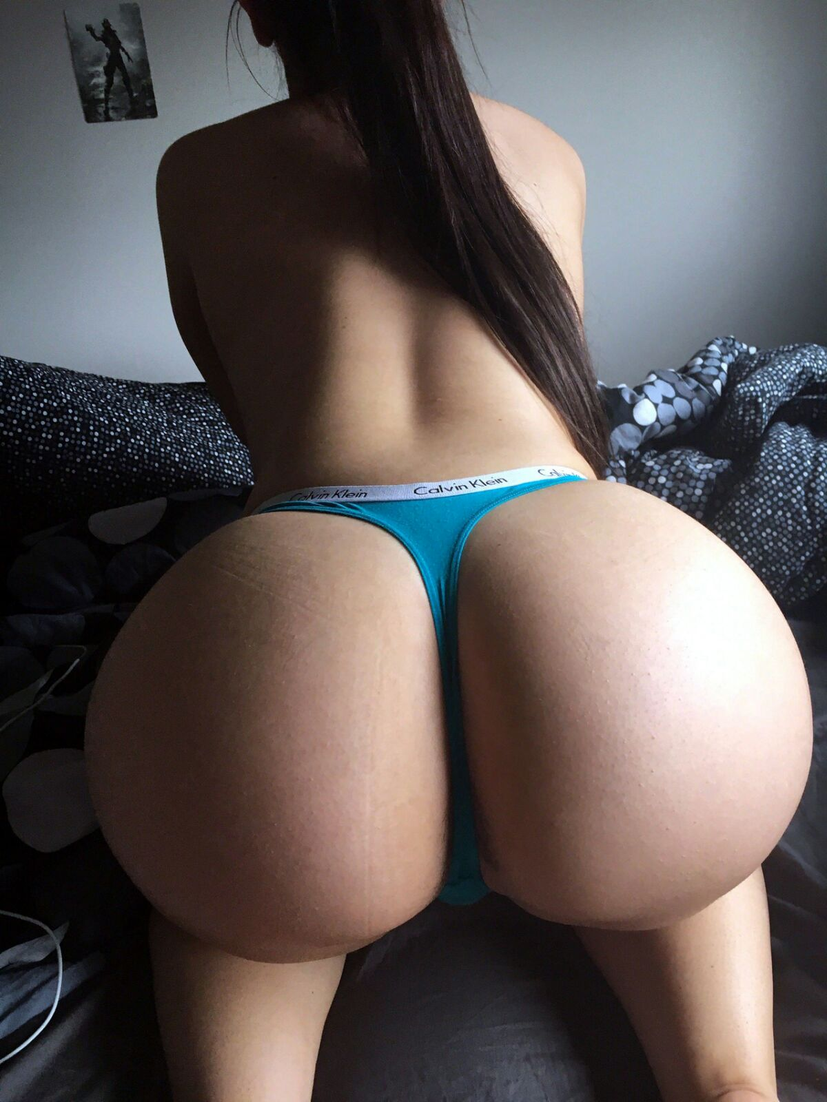 Perfect round ass with thong
