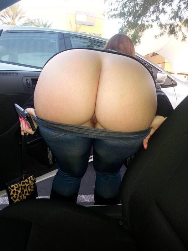 Milf bending over naked big bum