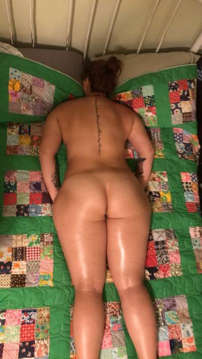 All oiled up from my massage (oc)