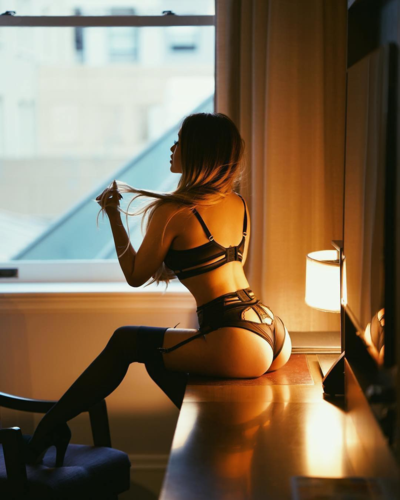 Moody lighting & sexy lingerie
