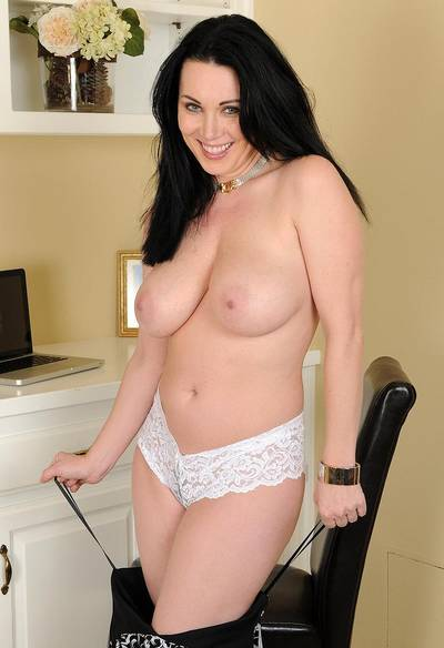 White panties on a pale beauty