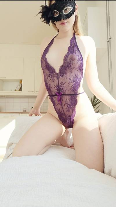My new purple body suit 😊 got lots more lingerie to show as ive got a bunch of new stuff!