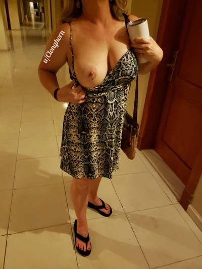 Obligatory hallway flash on titty Tuesday
