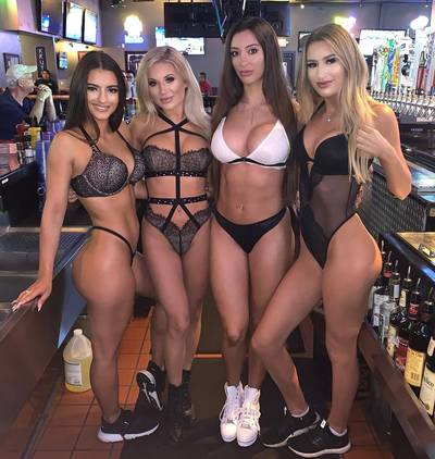 Lingerie day at sports bar